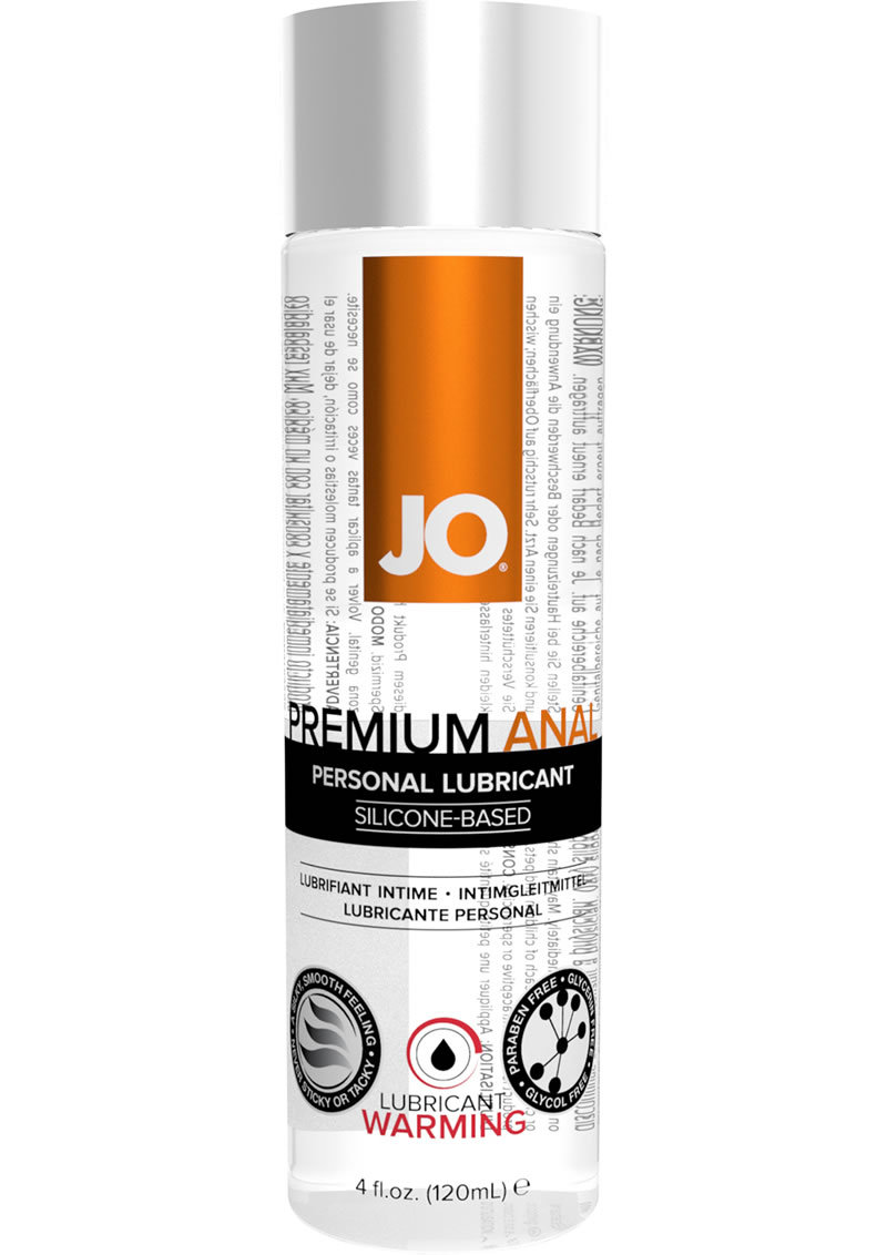 Jo Premium Warming Anal Silicone Lubricant 4 Ounce